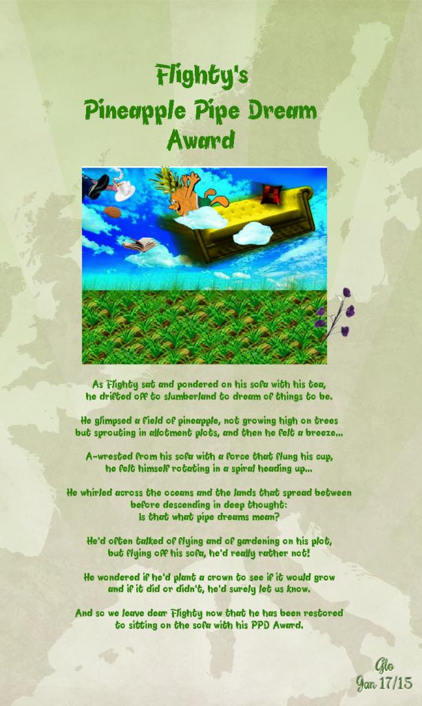 Flighty's Pineapple Pipe Dream Award